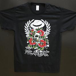 Образец печати черной футболки на цифровом текстильном принтере A1 WER-EP6090T