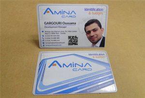 Образец для печати визитной карточки с настольного ультрафиолетового принтера формата A2 WER-D4880UV