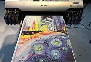 Образец холста из УФ-принтера A2 WER-EH4880UV