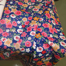 Цифровая печать на текстиле образец 1 на цифровом текстильном принтере WER-EP7880T