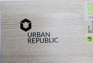 Печать логотипа на древесных материалах от WER-D4880UV 2
