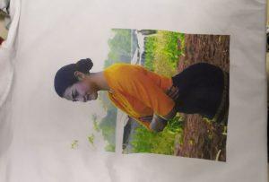 Образец печати футболок для клиента Бирмы от принтера WER-EP6090T