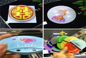 печать образцов пластика от ультрафиолетового принтера формата А1 6090UV